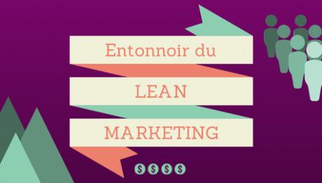 Image entonnoir du lean marketing sur fond violet
