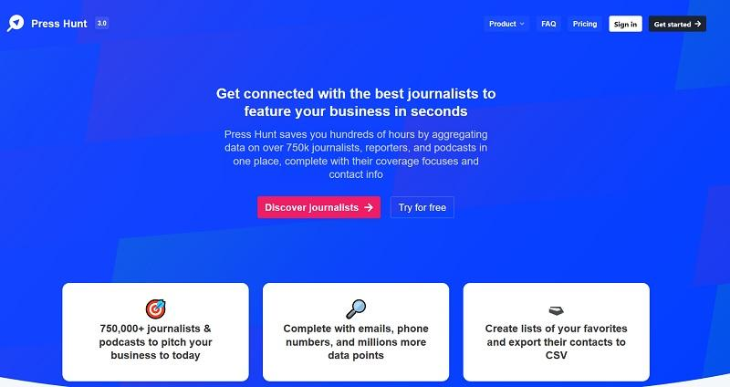 Press Hunt – La base de donnée ULTIME de journaliste. Bonus : Tricks SEO !