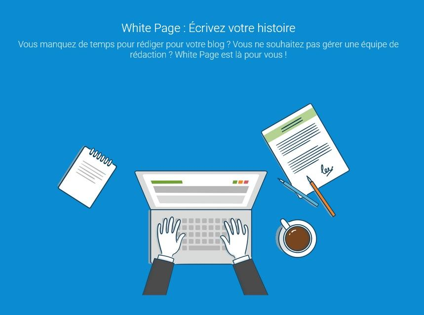 white page